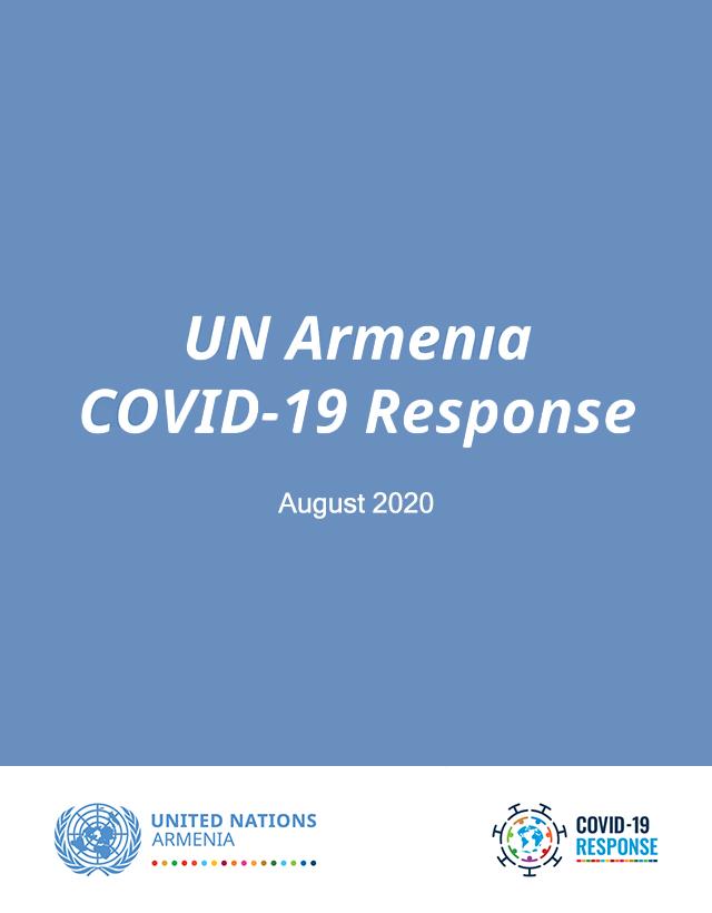 UN Armenia COVID-19 Response infographics cover.