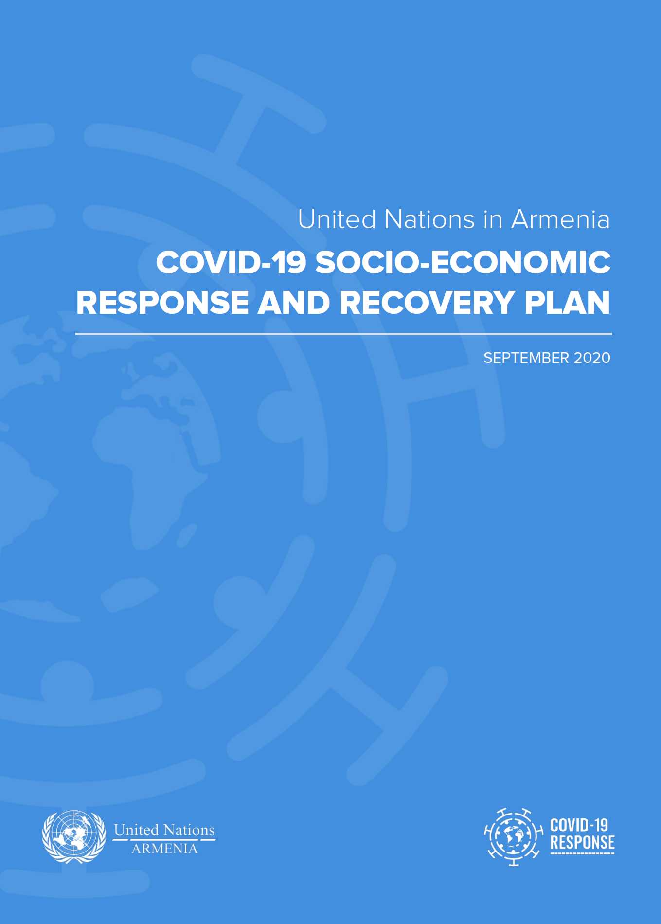 Cover page of the UN Armenia COVID-19 Socio-Economic Response and Recovery Plan