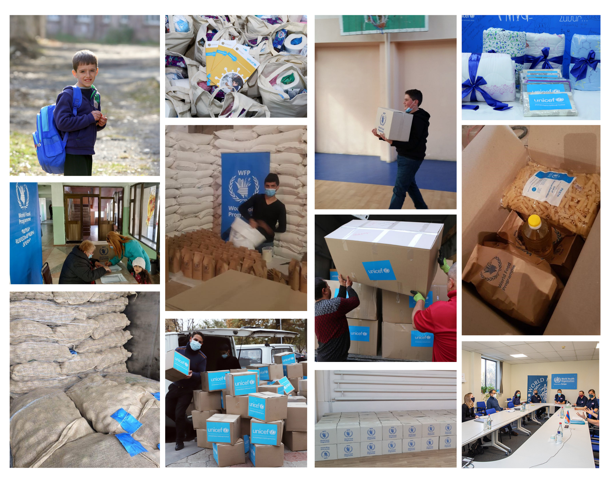 Compilation of pictures of some of UN Armenia's support to to people displaced from in and around Nagorno-Karabakh and affected communities in Armenia.