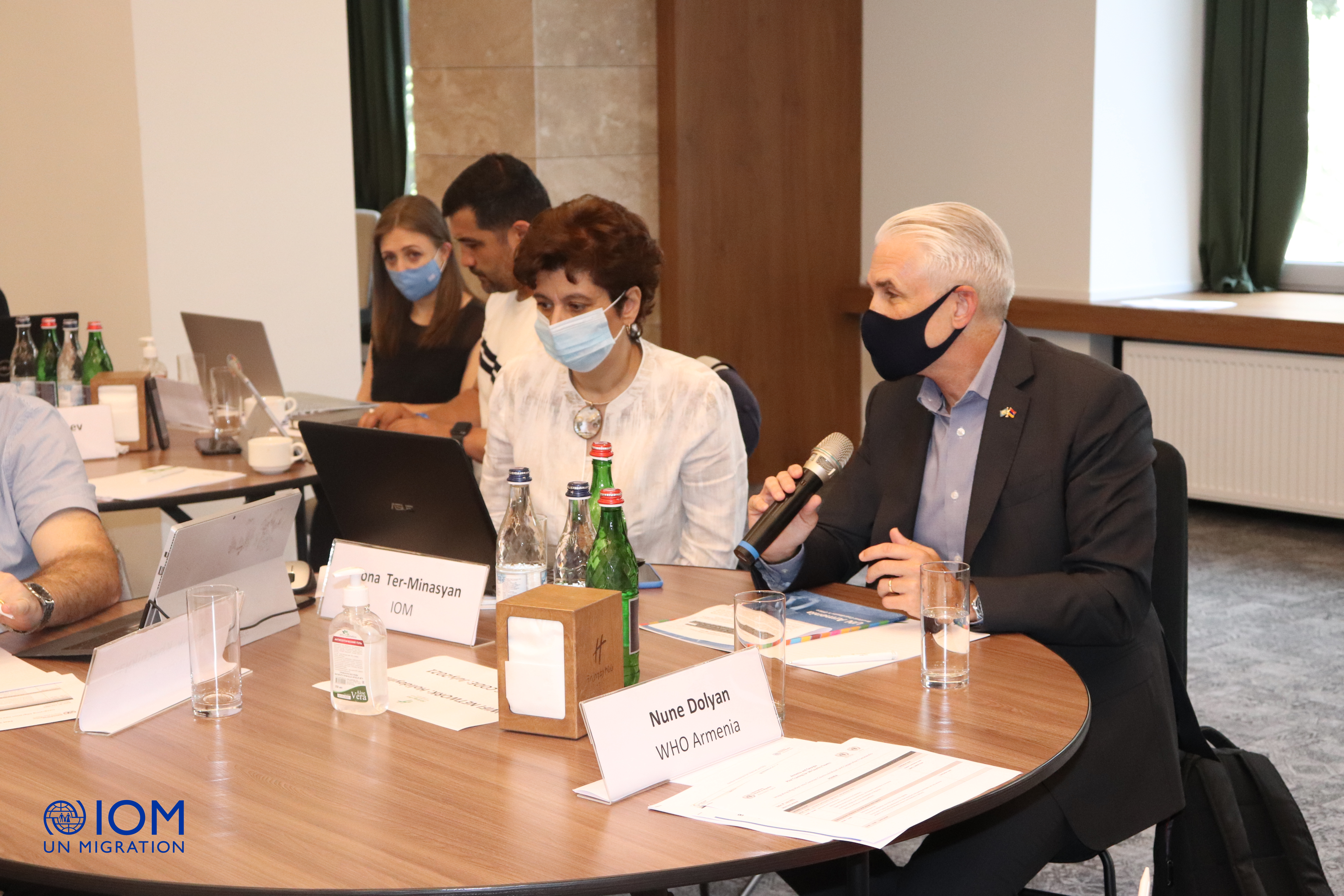 """Shombi Sharp welcomes the participants of """"The Integrating Migration into Common Country Analyses and Cooperation Frameworks"""" training held in the framework of UN Migration Network."""