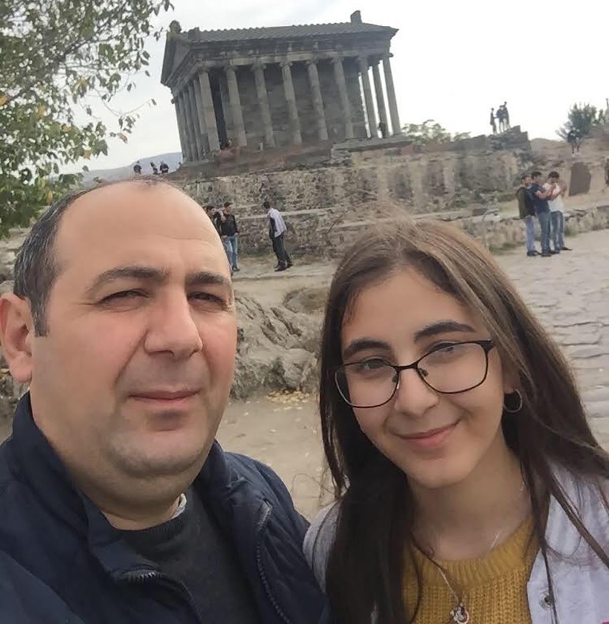 Levon Ordyan with daughter.