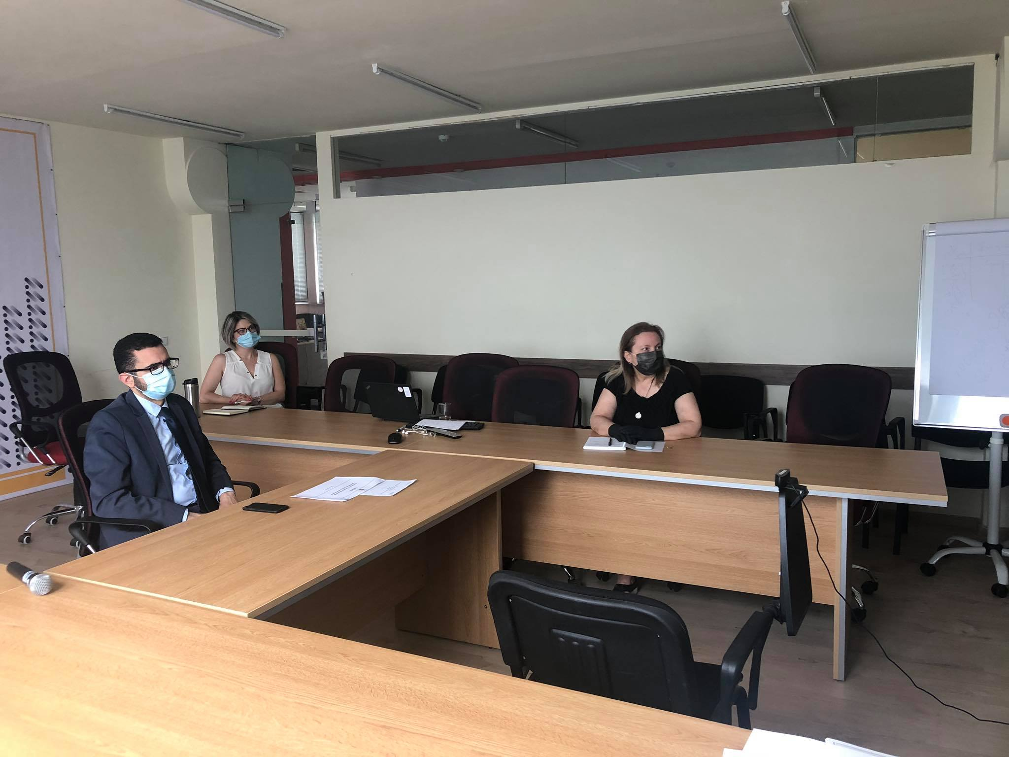 Armen Ghazaryan, head of the Migration Service during the meeting.