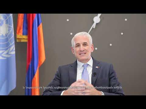 UN Resident Coordinator in Armenia, Shombi Sharp's New Year video message